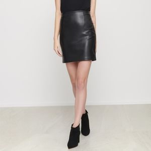 Dynamite Faux Leather High Waisted Skirt